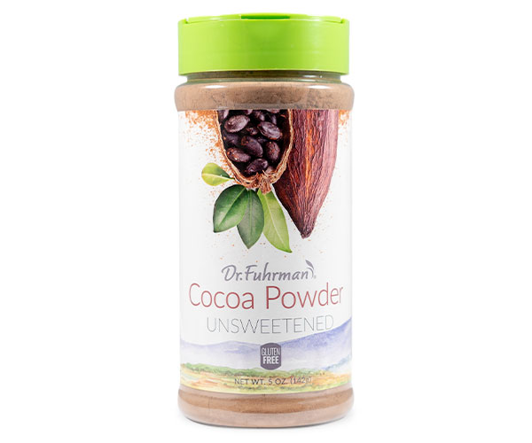 Non-alkalized and unsweetened, this flavorful cocoa powder provides the benefits of dark chocolate with no added fat or sugar.