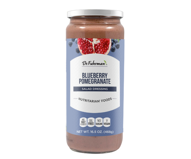 All-natural dressing made with a superfruit blend of blueberries and pomegranate subtly sweetened with raisins and flavored with pure vanilla.