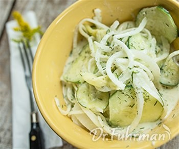Creamy Cucumber and Onion Salad