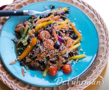 Millet Salad with Veggies and Black Beans