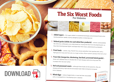 Download the Worst Foods for Diabetes Infographic