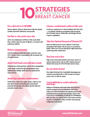 Ten strategies for preventing breast cancer | DrFuhrman com