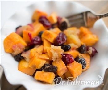 Sweet Potatoes with Apples and Cranberries