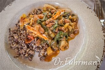 Creole Chicken with Red Beans and Spinach