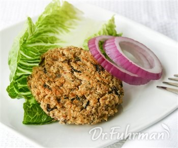 White Bean, Wild Rice and Almond Burgers