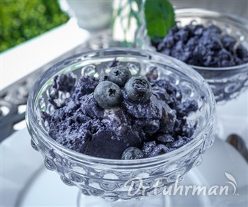 Chunky Blueberry Walnut Sorbet