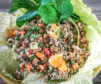 Lentil, Quinoa and Clementine Salad