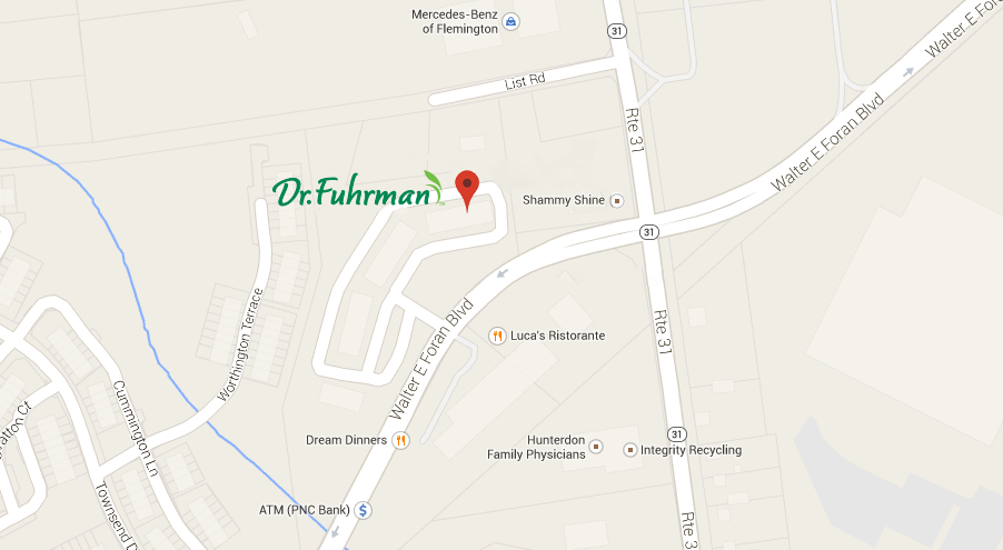 Map to Dr. Fuhrman Medical Practice