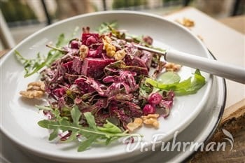 Roasted Beets, Arugula and Chickpea Salad