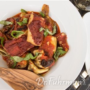 Roasted Eggplant with Sun-Dried Tomatoes and Tofu