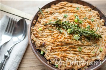 Lentil and Mushroom Shepherd's Pie with Cauliflower Mash