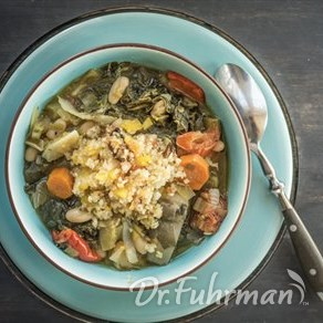 Slow Cooker Artichoke, White Bean and Chard Stew with Fennel Relish
