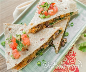 Black Bean and Sweet Potato Quesadillas